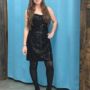 Sequin Little Black Dress NWT LBD Alfred Angelo